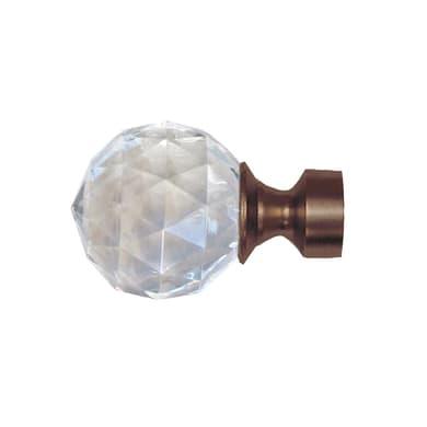 Finale per bastone Loft pomolo in metallo Ø25mm bronzo satinato