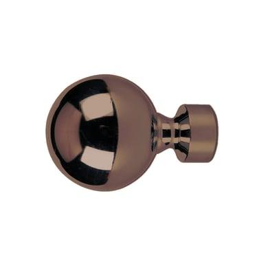 Finale per bastone Loft sfera in metallo Ø25mm bronzo satinato