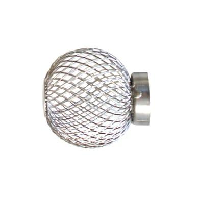 Finale per bastone Loft sfera in metallo Ø25mm cromo satinato