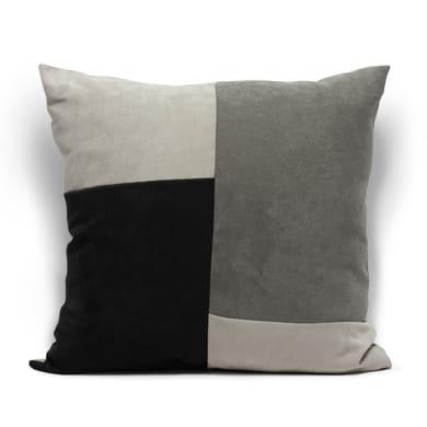 Cuscino grande Patchwork grigio 60x60 cm