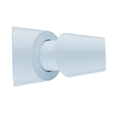 Finale per bastone Ø20mm Nilo pomolo in alluminio bianco lucido INSPIRE Set di 2 pezzi