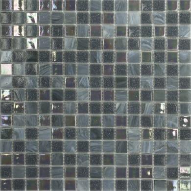 Mosaico Mix plus H 32.7 x L 32.7 cm blu, grigio
