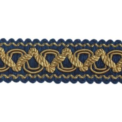 Passamaneria blu, oro