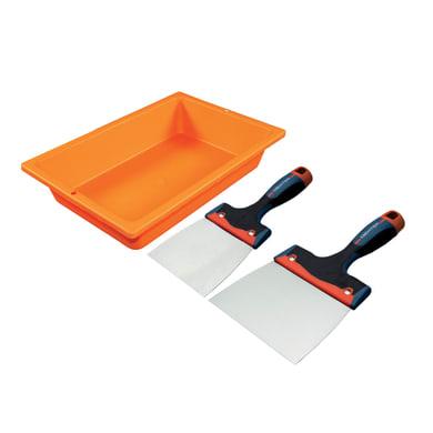 Kit per cartongesso DEXTER in acciaio inox , 3 pezzi