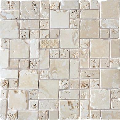 Mosaico Travertino Romano H 30.5 x L 30.5 cm avorio