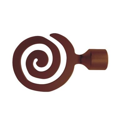 Finale per bastone Loft spirale in metallo Ø25mm bronzo satinato