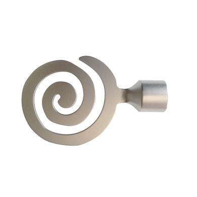Finale per bastone Loft spirale in metallo Ø25mm cromo satinato