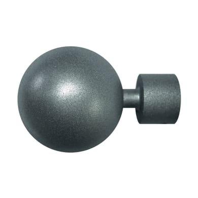 Finale per bastone Ø20mm Meteorite sfera in metallo verniciato INSPIRE