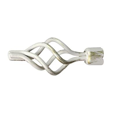 Finale per bastone Ø20mm Nuvole spirale in ferro verniciato INSPIRE