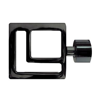 Finale per bastone Ø20mm Madrid quadrato in metallo verniciato INSPIRE