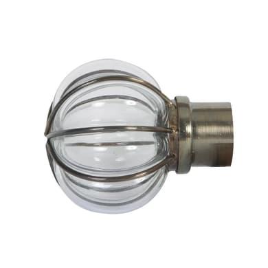 Finale per bastone Ø28mm Tarim sfera in metallo anticato INSPIRE