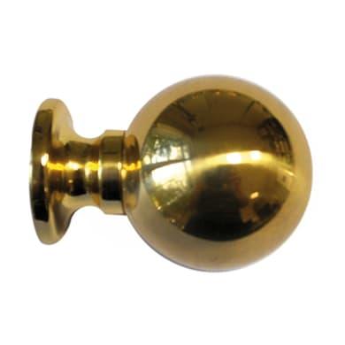Finale per bastone Volga sfera in metallo Ø20mm ottone lucido
