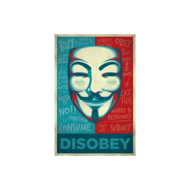 Poster Disobey 61x91.5 cm