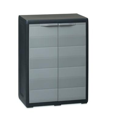 Armadio Elegance L 65 x P 38 x H 87 cm grigio e nero