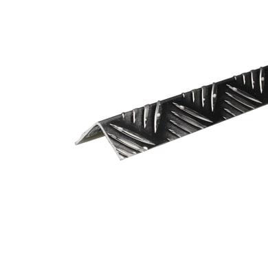 Copertura angolare simmetrico in alluminio 1 m x 2 cm grigio