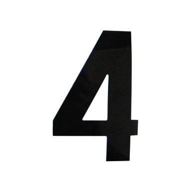 Numero 4 adesivo, 7.5 x 5 cm