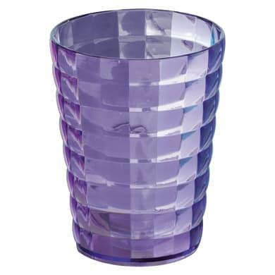 Bicchiere porta spazzolini Glady in plastica lilla