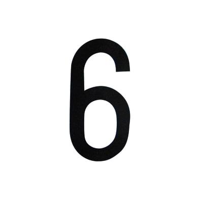 Numero 6 adesivo, 8 x 5 cm