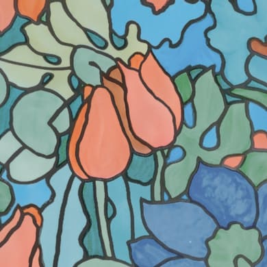 Pellicola adesiva per vetro San Remo multicolore 0.45x2 m
