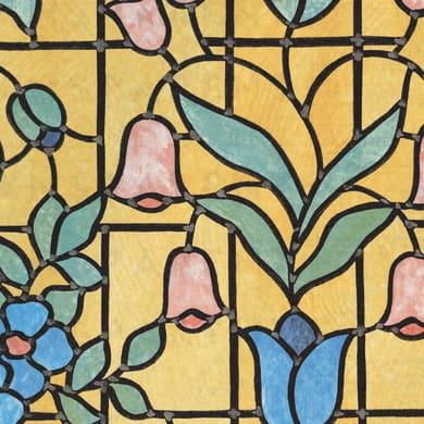 Pellicola adesiva per vetro Fiore giallo / dorato 0.45x2 m