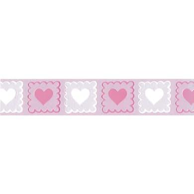 Bordo Cuori rosa 5.3 cm x 5 m