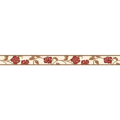 Bordo Fiore rosso 5.3 cm x 5 m