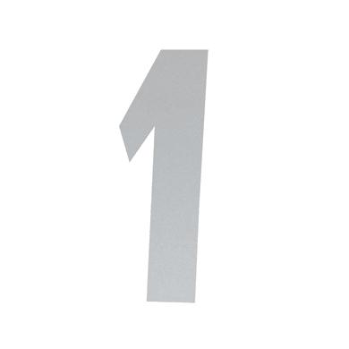 Numero 1 adesivo, 15 x 10 cm