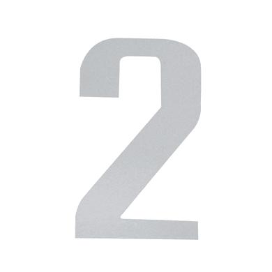 Numero 2 adesivo, 15 x 10 cm