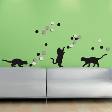 Sticker Fancy cats 47.5x70 cm