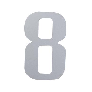 Numero 8 adesivo, 10 x 6 cm