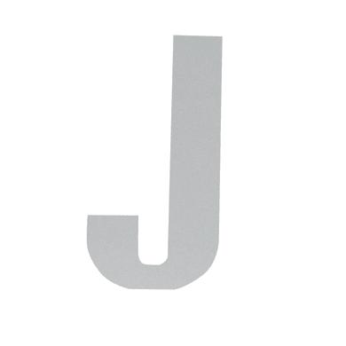 Lettera J adesivo, 10 x 6 cm