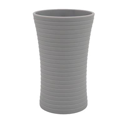 Bicchiere porta spazzolini Gom in plastica grigio