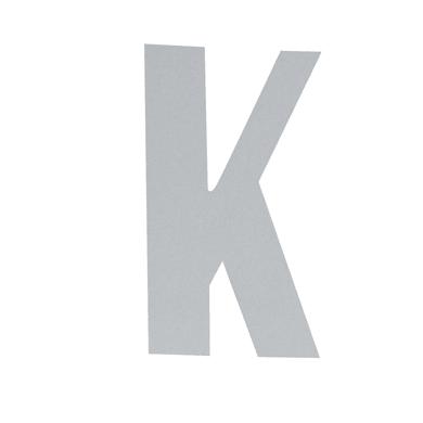 Lettera K adesivo, 10 x 6 cm