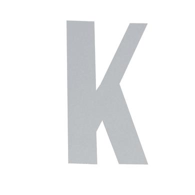 Lettera K adesivo, 3 x 2 cm