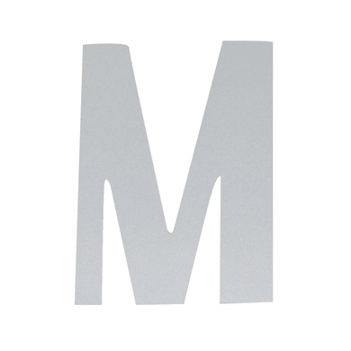 Lettera M adesivo, 10 x 6 cm