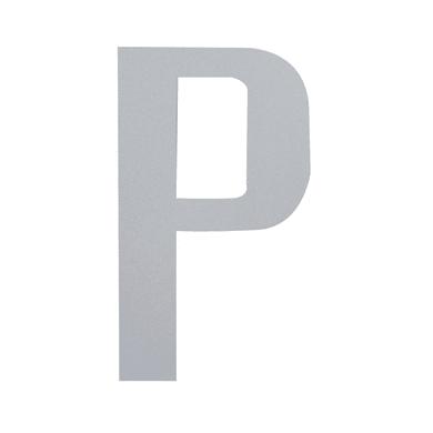 Lettera P adesivo, 10 x 6 cm