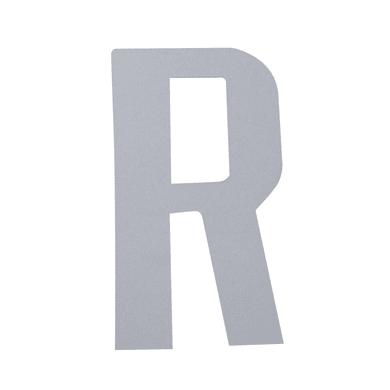 Lettera R adesivo, 10 x 6 cm