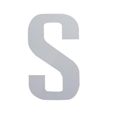 Lettera S adesivo, 5 x 3.5 cm