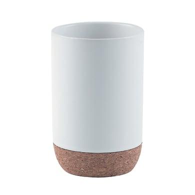 Bicchiere porta spazzolini Ilary in ceramica bianco