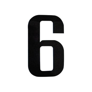 Numero 6 adesivo, 7.5 x 5 cm