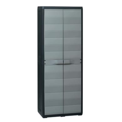 Armadio Elegance L 65 x P 38 x H 171 cm grigio e nero