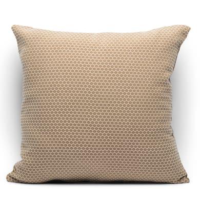 Fodera per cuscino Nido d'ape marrone 40x40 cm
