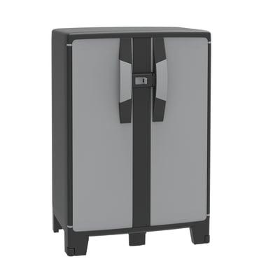 Armadio Spaceo cool L 65 x P 39 x H 180 cm grigio e nero