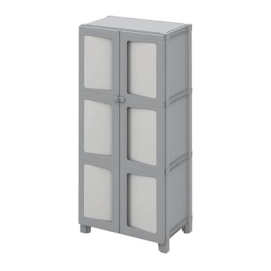 Armadio Modulize L 65 x P 40 x H 138 cm grigio antracite e grigio chiaro
