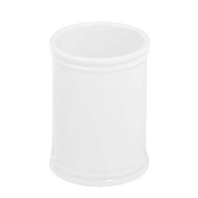 Porta spazzolini Impero in porcellana bianco
