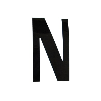 Lettera N adesivo, 10 x 6 cm