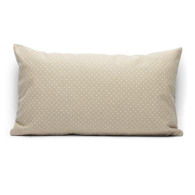 Fodera per cuscino Pois beige 50x30 cm