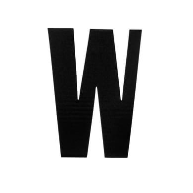 Lettera W adesivo, 3 x 2 cm