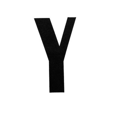 Lettera Y adesivo, 7.5 x 5 cm