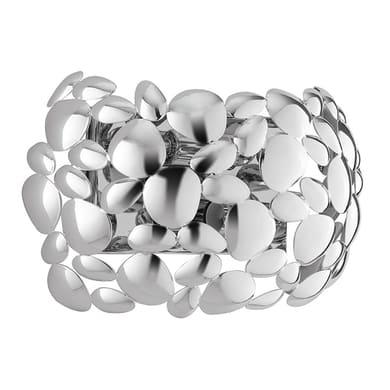 Applique moderno Dioniso grigio, in acciaio,  D. 30 cm 2 luci